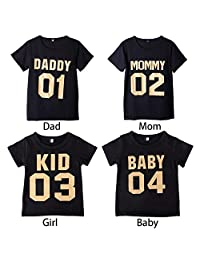 JaneDream Daddy Mommy Baby Family Shirts