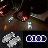 CNAutoLicht 2PCS Cree LED Door Step Light Laser Shadow Logo Projector Lamp For Audi A1 A2 A3 A4 A5 A6 A7 A8 Q2 Q3 Q6 Q5…