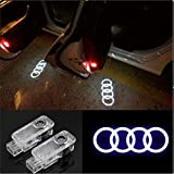 CNAutoLicht 2PCS Cree LED Door Step Courtesy Light Laser Shadow Logo Projector Lamp For Audi A1 A2 A3 A4 A5 A6 A7 A8 Q2 Q3 Q6 Q5 Q7 R8 TT RS4 RS5 RS6 RS7 S3 S4 S5 S6 S7 S8 Welcome Light