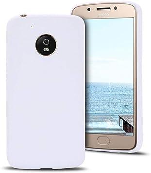 MOEVN Funda Moto G5 Silicona, Blanco Motorola G5 Carcasa Mate Case ...