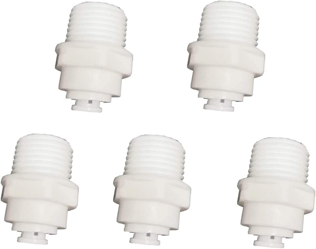 YZM Tube Quick Connector fittings Water Purifiers Filters Reverse Osmosis Systems accessories set of 5 (5, straight,3.8