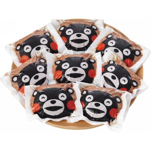 【2017年 お歳暮 厳選ギフト】 熊本和牛 あか牛ハンバーグ(くまモンマーク付・8個) (無地のし)