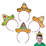Fun Express Sombrero Party Hat Headbands Fiesta Party Favors - 12 pieces