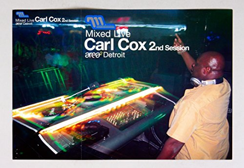Carl Cox Mized Live 2nd Session 2002 Album Promo 12x12 Poster Flat 4 sided