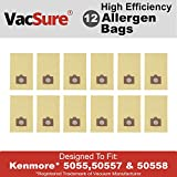 VacSure Vacuum Bag To Fit Kenmore Canister Type C. 5055, 50557 & 50558 Panasonic Type C-5 (12 Pack)