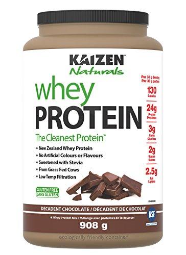 - Kaizen Naturals Whey Protein Decadent Chocolate, 908 g