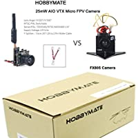 HOBBYMATE FPV Micro AIO Camera VTX 5.8G 40CH 25mW Transmitter with Y Splitter for FPV Drone like Blade Inductrix and Similar Micro Quadcopters