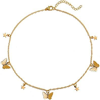 Beautiful Butterfly Choker Necklace high quality
