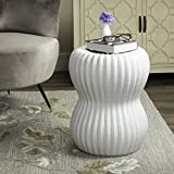 Safavieh Castle Gardens Collection Hour Glass White Ceramic Garden Stool