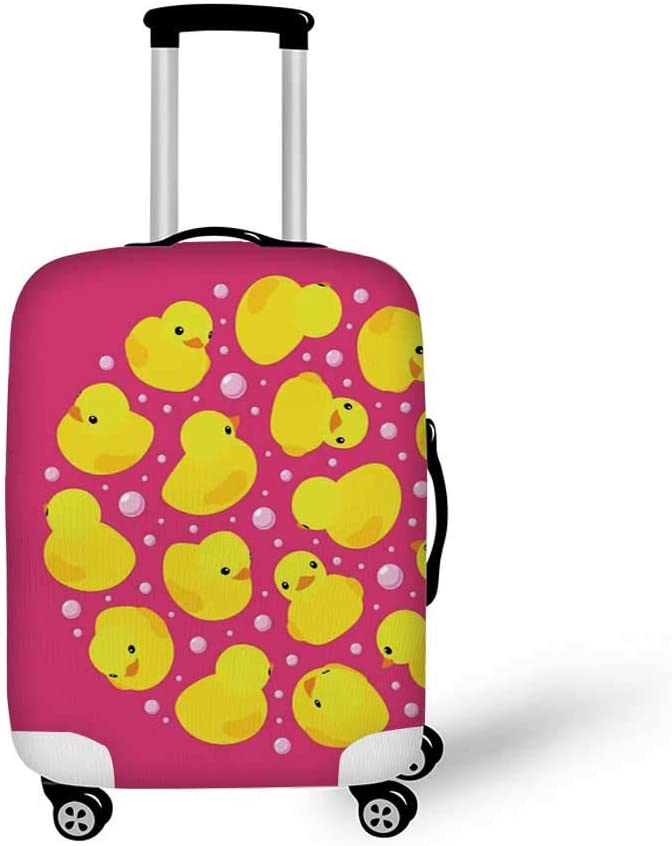 26.3W x 30.7H Rustic Stylish Luggage Cover,Lilac Flowers Bouquet on Wood Table Spring Nature Romance Love Theme for Luggage,L