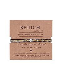 KELITCH Pearl Seed Beaded Wax rope Charm Wrap Bracelets Handmade Friendship New Women Jewelry