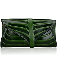 Women Clutch Designer Leaf Purse Leather Crossbody Bags For Women
