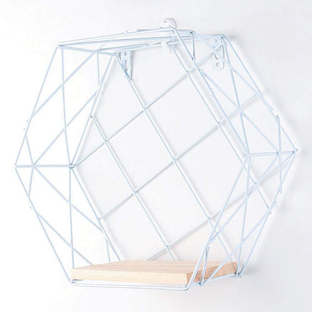 istary Nueva Hierro Rejilla Hexagonal Estante De Pared Combinaci/ón Colgante De Pared Figura Geom/étrica Decoraci/ón De Pared para La Sala De Estar Dormitorio