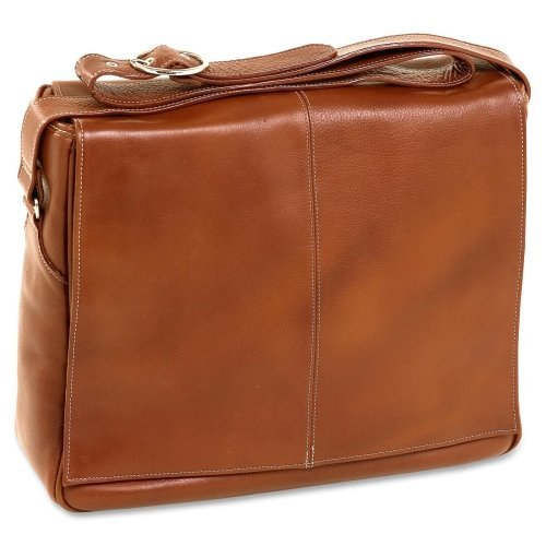 Siamod San Francesco Carrying Case (Messenger) For 15.4'' Notebook . Cognac . Napa Cashmere Leather ''Product Type: Accessories/Carrying Cases''