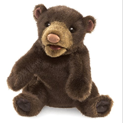 Folkmanis Small Black Bear Hand Puppet