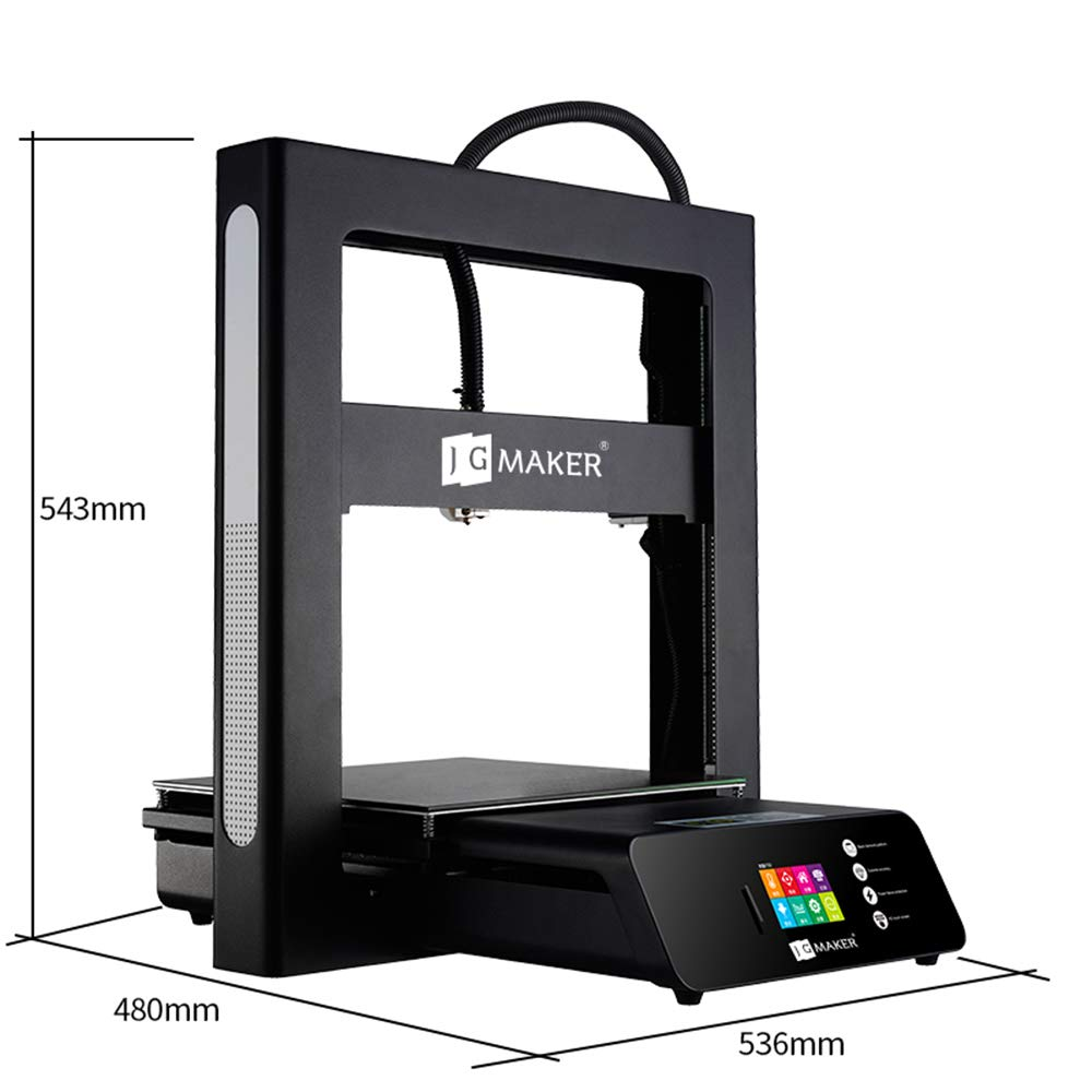 JGMAKER 3D Printer A5S DIY Kit Aluminum Color Touch Screen Upgrade Desktop 3D Printing Machine PLA Filament Large Build Size 305x305x320mm