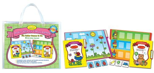 Language Arts File Folder Games (D.J. Inkers Basic Skills for Early Learning Set 3 File Folder Games to Go Educational Board Game)