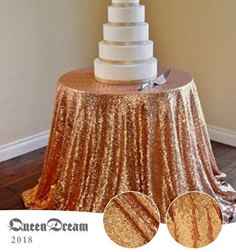QueenDream sheer sequin tablecloth 108