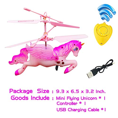 Flying Ball RC Unicorn Toys, Mini RC Flying Helicopter Unicorn Toy Gifts Hand Control Drones for Kids Boys Girls Flying Fairy Unicorn Doll Hovering Aircraft Outdoor Flying Toys Games Birthday Gift by Synmila (Image #4)