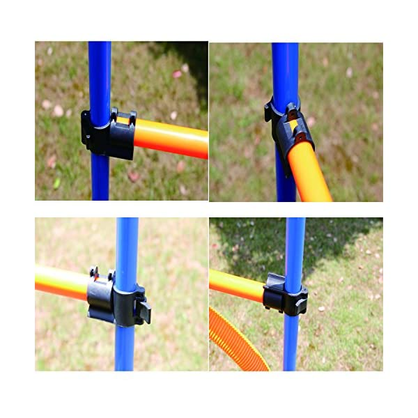 PAWISE Pet Dogs Outdoor Games Agility Exercise Training Equipment Agility Starter Kit Jump Hoop Hurdle Bar 3