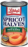 #7: Libby's Unpeeled Apricot Halves in Pear Juice From Concentrate, 15oz Cans (Pack of 6)