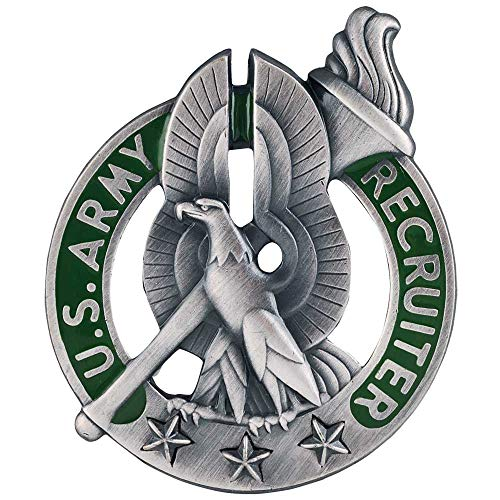 Medals of America Army Recruiter Badge Silver Oxide