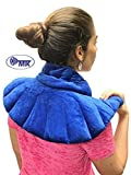 Deluxe Neck Shoulder Wrap & Eye Mask | #1 Microwavable Heating Pad | Herbal Hot Cold Neck Wrap | Pain Relief Herbal Aromatherapy | Wraps for Neck | Heating Pad