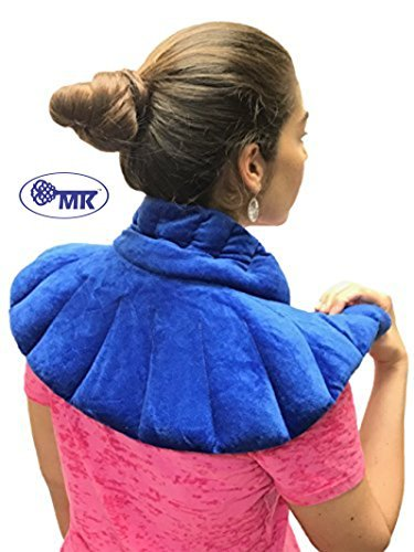 Neck wrap: #1 Doctor-Recommended (Heating pad with Eye Mask) Herbal Heating wrap for Neck and Shoulder Pain Relief: microwavable Neck and Shoulder Therapy (Herbal Heat Wraps)