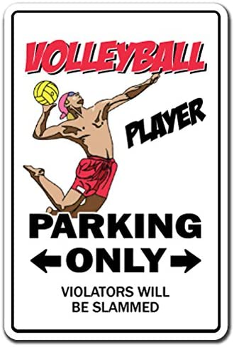 """Volleyball sign Aluminum 8/"""" Metal Sign"""