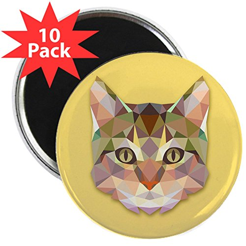 (2.25 Inch Magnet (10 Pack) Triangle Cat)