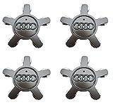 audi a6 wheel center cap - Lhfacc Audi Wheel Center Hub Cap Cover Emblem Badge Silver Sets of 4 for A3 A4 A5 A6 A7 A8 Q5 R8 S4 S5 S6 TT A3 S3 Q3 Q5