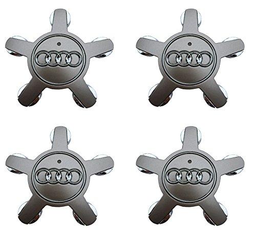 Lhfacc Audi Wheel Center Hub Cap Cover Emblem Badge Silver Sets of 4 for A3 A4 A5 A6 A7 A8 Q5 R8 S4 S5 S6 TT A3 S3 Q3 Q5 (Set Audi A8)