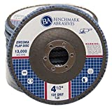 "4.5"" x 7/8"" Premium Zirconia Flap Disc Grinding Wheel 120 Grit Type 29 - 10 Pack"
