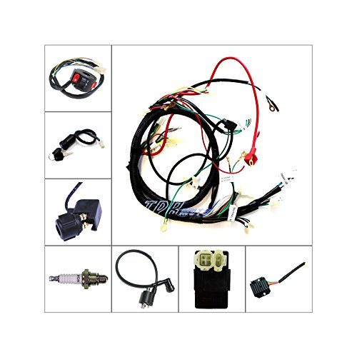 TDRMOTO FULL ELECTRIC WIRING LOOM HARNESS FOR 150CC BUGGY USE GY6 TYPE on