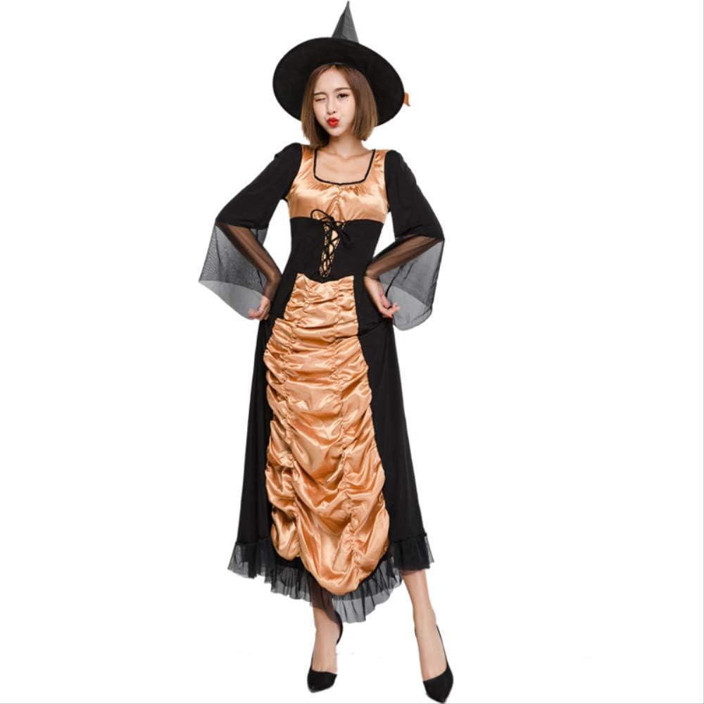 LBHHH Bruja de Halloween, Disfraz de Falda Larga, Disfraz de Bruja ...