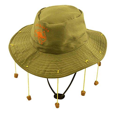 (MA ONLINE Unisex Australian Corks Hat Adult Australian Outback Fancy Dress Party Accessory One)