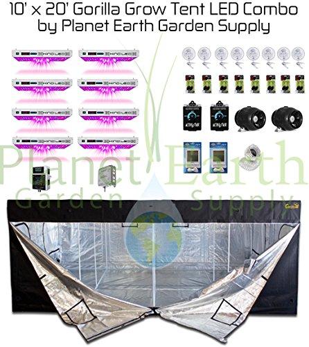 51QNwwWoPUL 10x20 Gorilla Grow Tent Kit 1000w KIND LED XL1000 Package #2
