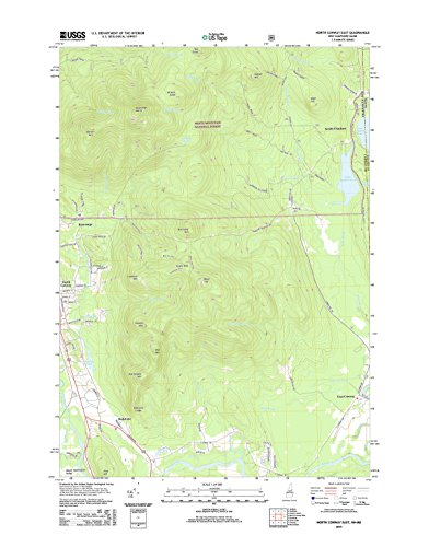 Topographic Map Poster - NORTH CONWAY EAST, NH-ME TNM GEOPDF 7.5X7.5 GRID 24000-SCALE TM 2013 17