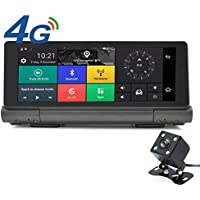 junsun 4G Android 5.0 Car GPS Navigation Full HD Dual Lens Camera 1080P Car GPS with DVR