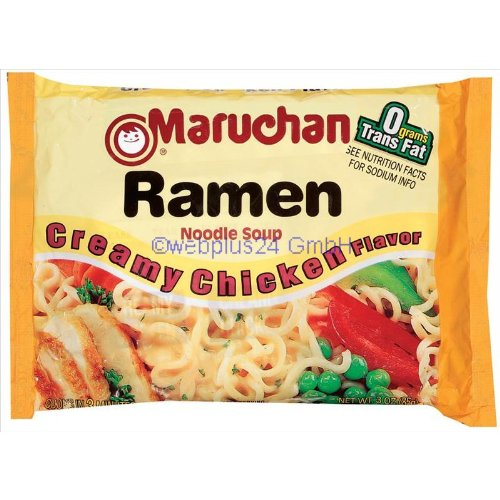 Maruchan Creamy Chicken Flavor Ramen Noodles (Pack of 24) (Chicken Maruchan Soup)