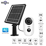 LLC - Hiseeu Solar Powered Wireless IP Security Camera, 2-Way Audio, Night Vision, Multi-People Remote, 2.4GHz WiFi, PIR Motion, Support TF Card& Cloud Service