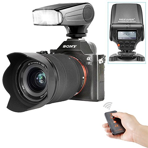 Neewer NW320 TTL LCD画面 LED補助プレビューフォーカスフラッシュスピードライトキット Sony A7/A7R/A7S/A7 II/A6000/NEX6に対応(1)Sony用NW320フラッシュ+(1)IRワイヤレスシャッターレリーズの商品画像