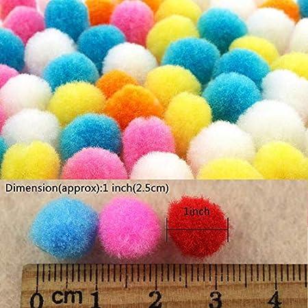 Mix pompom assortment 0,7cm per 100 pieces