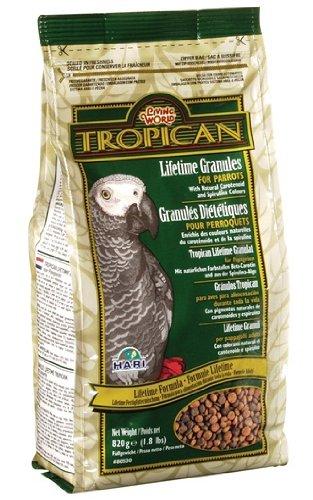 Tropican Mischfutter Granulat für Papageien, 820 g, 1er Pack (1 x 820 g)