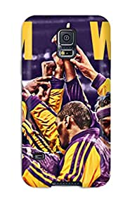 New Style Case Cover UMrJAnL2572HgEIf Los Angeles Lakers Nba Basketball (32) Compatible With Galaxy S5 Protection Case