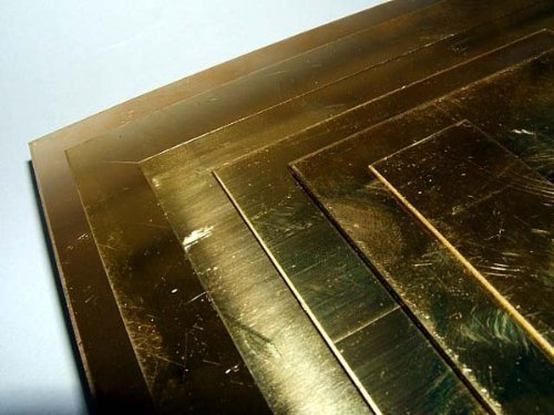 Hoja latón 0, 7 mm media carcasa rígida Maidstone Engineering