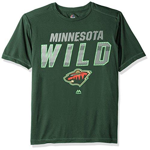 VF LSG NHL Minnesota Wild Men's Charging Short Sleeve Synthetic Tee, Large, Dark (Majestic Minnesota Wild Green)