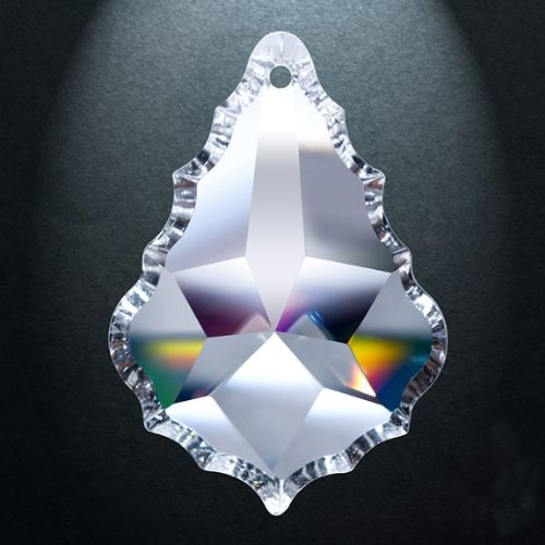 Asfour Crystal 911 Pendeloque Clear Crystal Prism, 5-Inch, 1 Hole , Box of 9 Pieces by ASFOUR CRYSTAL