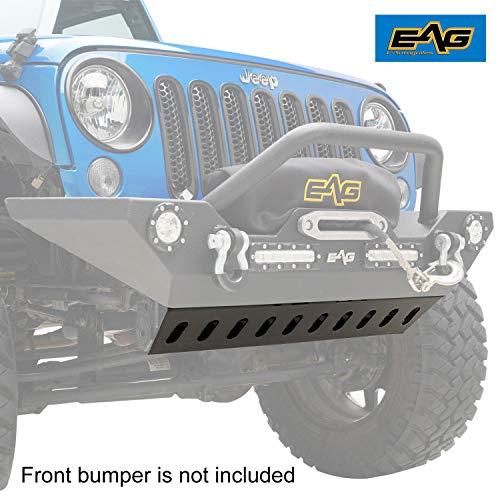 EAG Skid Plate Fit for Bumper JJKFB001 / JJKFB036 Fit for 07-18 Jeep Wrangler JK