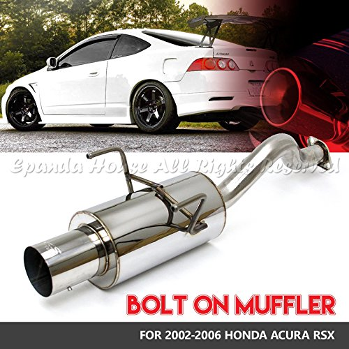 Acura Mufflers - Fits 02-06 Acura Rsx Bolt-On Stainless Steel Muffler 2.5